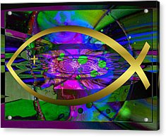 Christian Fish Ichthus Acrylic Print by Robert Kernodle
