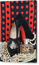 Christian Louboutin And Dior Acrylic Print by To-Tam Gerwe