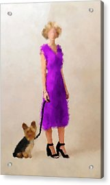 Acrylic Print featuring the digital art Christina by Nancy Levan