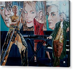 Acrylic Print featuring the painting Christine Anderson Concert Fantasy by Bryan Bustard