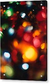 Christmas Abstract 2 Acrylic Print by Steve Ohlsen