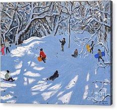 Christmas, Allestree Woods, Derby Acrylic Print