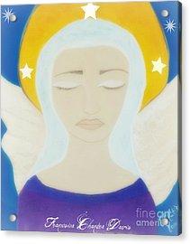 Christmas Angel Acrylic Print by Sacred  Muse