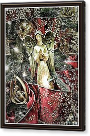 Christmas Angel Greeting Acrylic Print