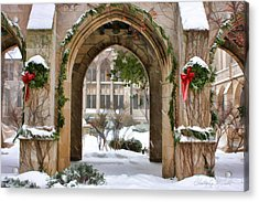 Christmas Arch Acrylic Print by Christopher Arndt