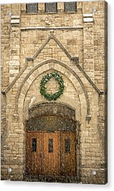 Christmas At Stone Chapel Acrylic Print