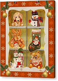 Christmas At The Cuddly House Acrylic Print