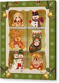 Christmas At The Cuddly House I Acrylic Print