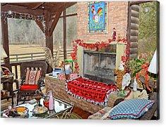 Christmas At The Farm Acrylic Print by Susan Leggett