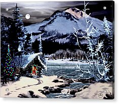 Christmas At The Lake V2 Acrylic Print