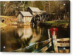 Acrylic Print featuring the photograph Christmas At The Mill by Darren Fisher