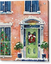 Christmas At The Rectory Acrylic Print