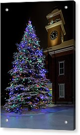 Christmas At Town Hall Acrylic Print
