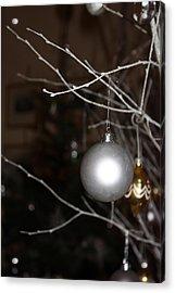 Christmas Bauble Acrylic Print by Yvonne Ayoub