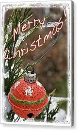 Christmas Bell Ornament Acrylic Print