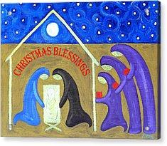Christmas Blessings 2 Acrylic Print by Patrick J Murphy