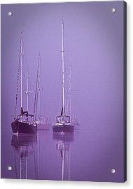 Christmas Boats Sleeping Acrylic Print by Arthur Sa