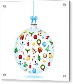 Christmas Bulb Art And Greeting Card Acrylic Print