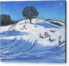 Christmas, Burley Lane, Derby Acrylic Print by Andrew Macara
