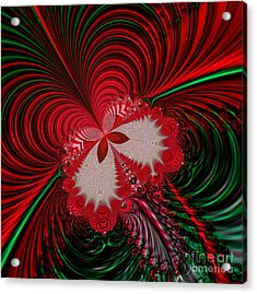 Christmas Butterfly Fractal 63 Acrylic Print by Rose Santuci-Sofranko