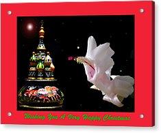 Christmas Cactus Floral Fantasy. Acrylic Print
