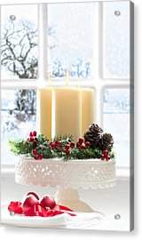 Christmas Candles Display Acrylic Print by Amanda Elwell