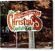 Christmas Capital Of Texas Acrylic Print by Allen Sheffield