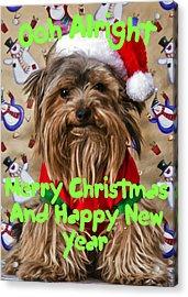 Christmas Card 1 Acrylic Print by Dennis Hofelich