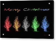 Christmas Card 2016 Acrylic Print by Robert J Sadler