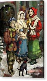 Christmas Carol 2 Acrylic Print by Carrie Joy Byrnes