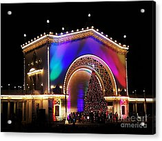 Christmas Celebration In San Diego  Acrylic Print by Jasna Gopic