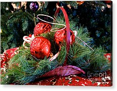 Christmas Centerpiece Acrylic Print by Vinnie Oakes