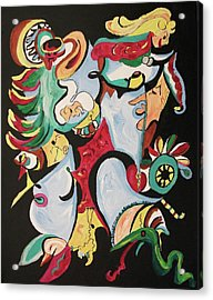Christmas Chaos Acrylic Print by Suzanne  Marie Leclair