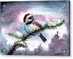 Christmas Chic Acrylic Print by Sean Seal