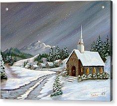 Christmas Church Acrylic Print