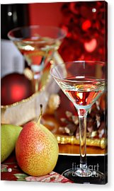 Christmas Cocktails Acrylic Print by HD Connelly