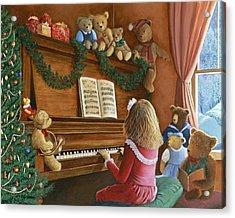 Christmas Concert Acrylic Print by Susan Rinehart