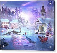 Christmas Creek Acrylic Print by Joel Payne
