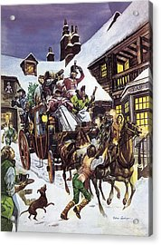 Christmas Day In The Eighteenth Century Acrylic Print by Peter Jackson