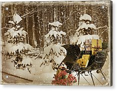 Christmas Delivery Acrylic Print by Maria Dryfhout