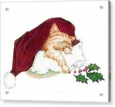 Christmas Dreamer Acrylic Print by Tobi Czumak