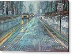 Christmas Drive Acrylic Print by Donald Maier