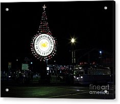 Christmas Eve 2009 Nightime At Fisherman Acrylic Print by Wingsdomain Art and Photography