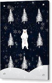 Christmas Eve Bear Acrylic Print