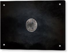 Christmas Eve Full Moon 2015 Acrylic Print by Terry DeLuco