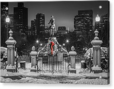 Christmas Eve In Boston Acrylic Print by Ryan McKee