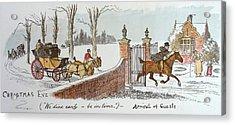 Christmas Eve Acrylic Print by Randolph Caldecott
