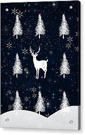 Christmas Eve Stag Acrylic Print