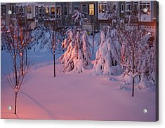 Christmas Evening Snow Acrylic Print