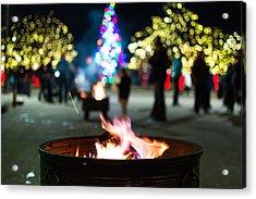 Christmas Fire Pit Acrylic Print